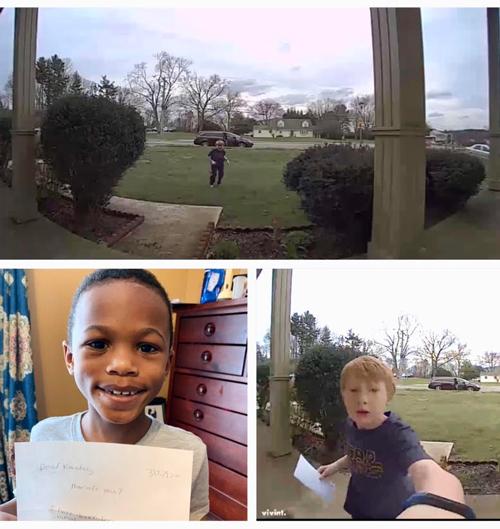 #OnAPositiveNote Un copil de șapte ani luminează ziua unui prieten cu un gest amabil | Ziarul online Baltimore Times