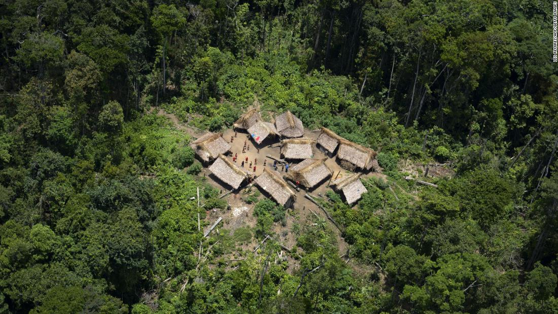 The 15-year-old boy from the Yanomami indigenous tribe lived in a remote village such as this one.