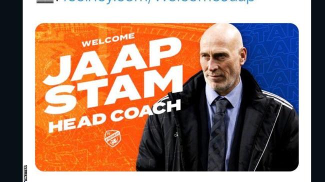 FC Cincinnati îl învinge pe Jaap Stam dezvăluit pe Twitter