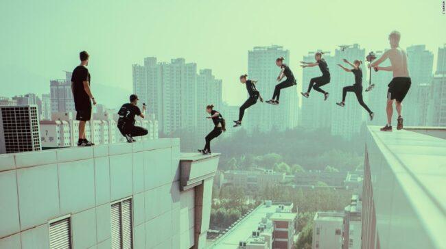 Hollywood: echipa extremă de parkour ale cărei salturi sfidătoare de moarte au atras atenția industriei cinematografice