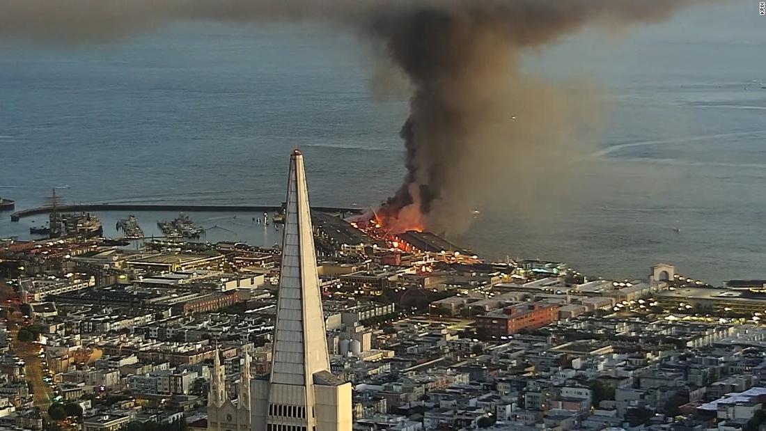 San Francisco Pier 45 arderea focului