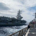 3 companii aeronave ale Marinei SUA patrulează Pacificul. Și China nu este fericită