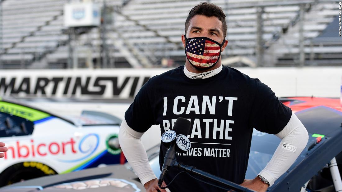 Bubba Wallace: O gaură a fost găsită în garajul unui șofer de cursă, potrivit NASCAR
