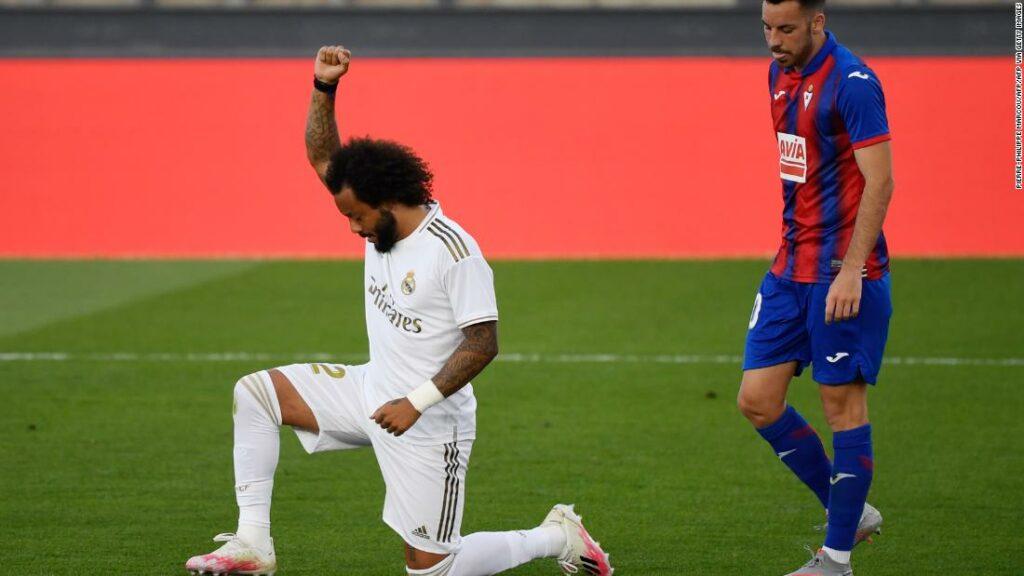 Marcelo de la Real Madrid susține mișcarea Black Lives Matter cu sărbătorirea golurilor