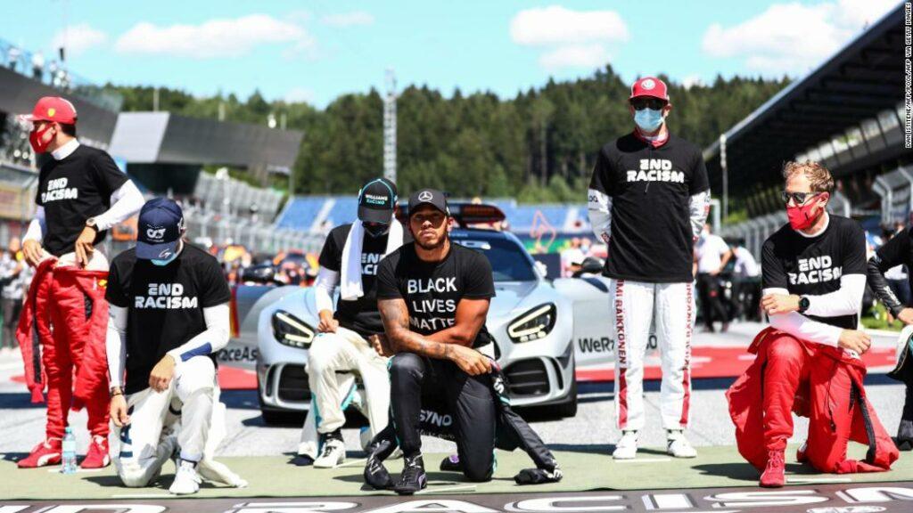 Șoferii F1 s-au împărțit, deoarece mulți aleg să nu se îngenuncheze pentru a susține Black Lives Matter înainte de Marele Premiu al Austriei