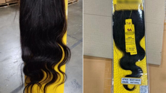 A fost confiscată o livrare de 13 tone de păr uman, posibil de la prizonieri chinezi
