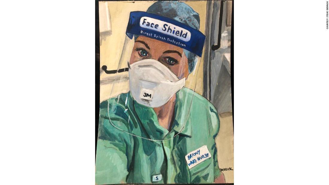 Portretele acestui artist ale lucrătorilor medicali de prim rang surprind epuizarea lor tratând pacienții cu Covid-19