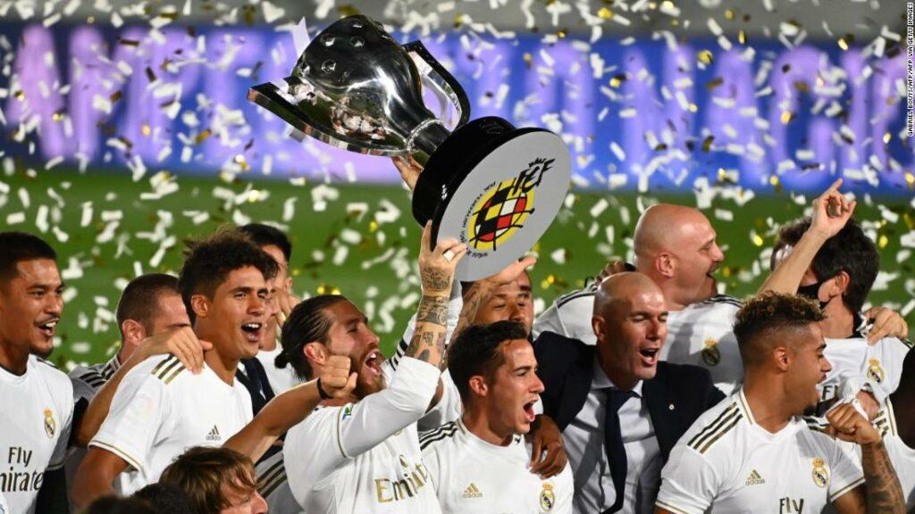 Real Madrid s-a încoronat campioană la La Liga pentru prima dată din 2017, cu victoria asupra lui Villarreal